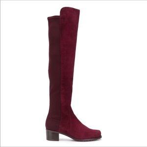 Stuart Weitzman Burgundy Red Reserve Boots Sz 6